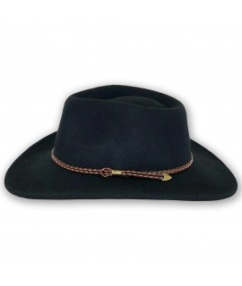 outback trading broken hill western crushable wool hat