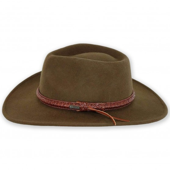 outback trading dusty rider western wool hat
