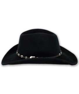 outback trading wallaby western wool crushable hat black